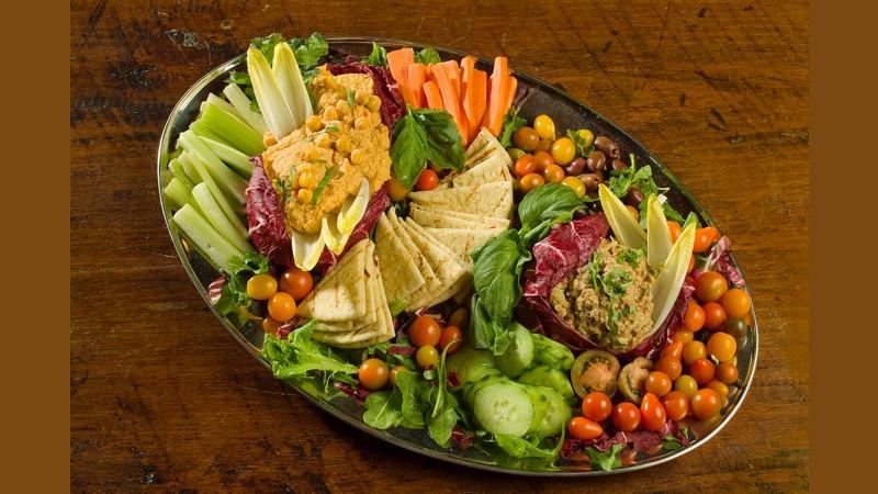 Hummus- Baba Ghanouj platter